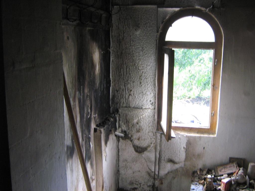 Brand in het klooster